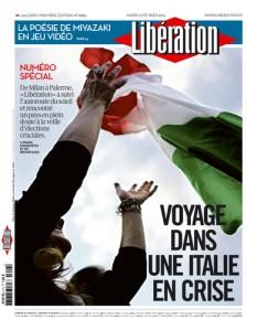 La copertina del quotidiano Liberation