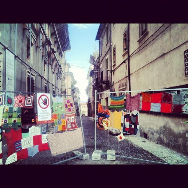 """L'Aquila, la """"Zona Rossa"""", foto di  @thefrenchbo"""