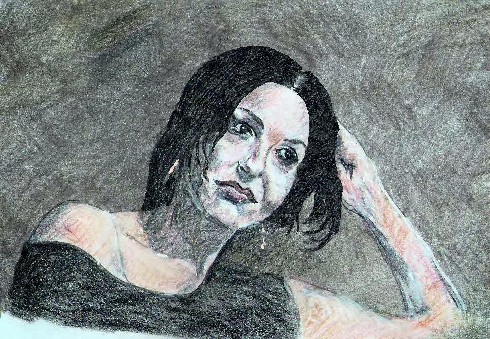 Sabrina Ferilli, disegno di Fulvio Ichestre