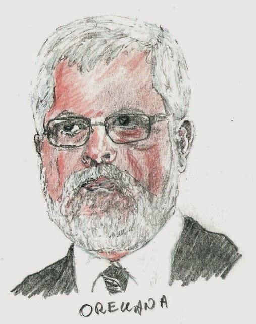 Luis Orellana - disegno di Fulvio Ichestre