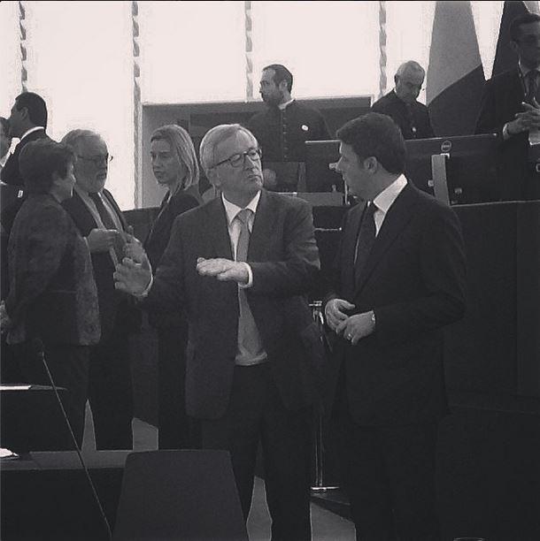 Con Juncker #strasburgo #cosedilavoro foto @nomfup